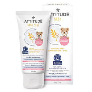 ATTITUDE Baby Diaper Zinc Cream sensitive-skin 75g