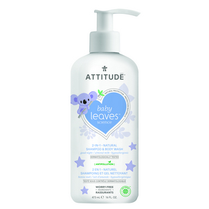 ATTITUDE Baby Leaves Shampoo & Body Wash almond milk 473ml