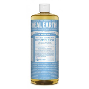 DR.BRONNER'S Pure Castile Soap baby unscented large refill-size 946ml