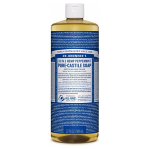 DR.BRONNER'S Pure Castile Soap peppermint large refill-size 946ml