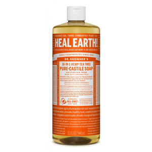 DR.BRONNER'S Pure Castile Soap teatree large refill-size 946ml