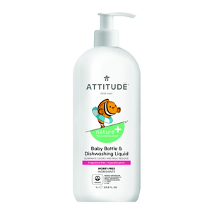 ATTITUDE  Baby-bottle-tough Dish Soap fragrance-free 1L