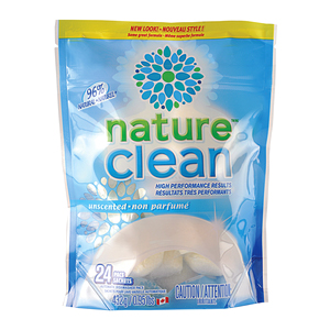 NATURE CLEAN Dishwasher 24 Pacs fragrance-free Kosher