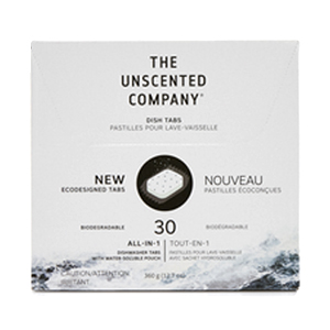 THE UNSCENTED COMPANY Dishwasher Tabs fragrance-free 30