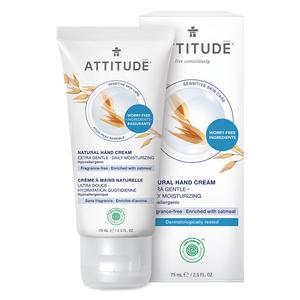 ATTITUDE Hand Cream Extra Gentle for sensitive-skin fragrance-free 75ml