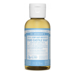 DR.BRONNER'S  Pure Castile Soap baby unscented travel-size 59ml