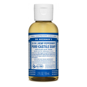 DR.BRONNER'S Pure Castile Soap peppermint travel-size 59ml