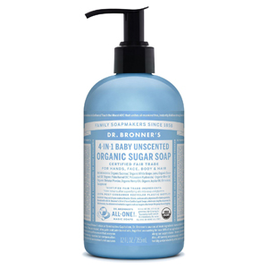 DR.BRONNER'S Sugar Soap Pump baby unscented 355ml