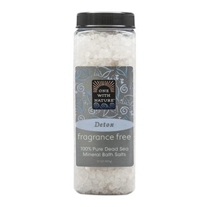 ONE WITH NATURE Dead Sea Bath Salt fragrance-free 907g