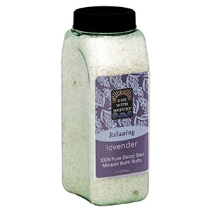 ONE WITH NATURE Dead Sea Bath Salt lavender 907g