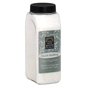 ONE WITH NATURE Dead Sea Bath Salt eucalytpus 907g