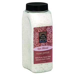 ONE WITH NATURE Dead Sea Bath Salt rose 907g