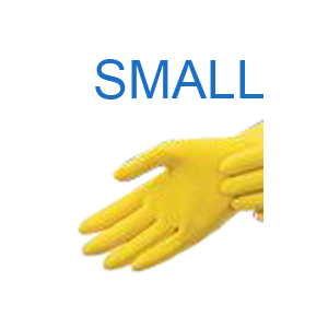 Yellow Latex Glove SMALL