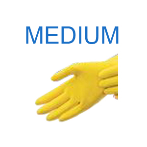Yellow Latex Glove MEDIUM