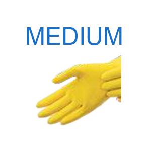 Yellow Latex Glove MEDIUM