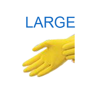 Yellow Latex Glove LARGE