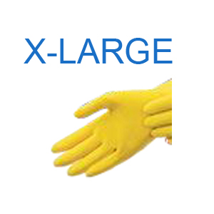 Yellow Latex Glove X-LARGE