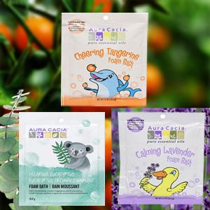 Foam baths with essential oils for kids