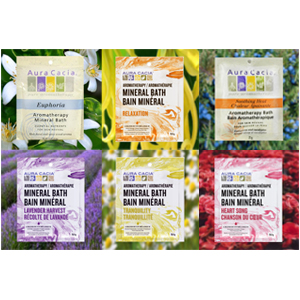 Mineral salt bath packets