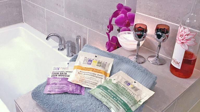 Foam bath packets